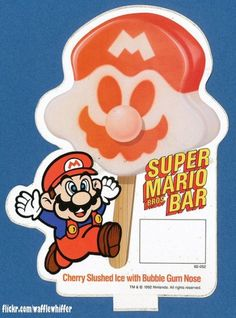 Super Mario Bros Bar (from the ice cream truck! Super Mario Bros, Super Mario World, Sega Genesis, Wii U, Slush Ice, Xbox One, Ice Cream Poster, Playstation, Pop Sicle