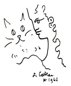 Cat Drawing, Line Drawing, Matisse Drawing, Jean Cocteau, Black And White Painting, Gay Art, French Artists, Colouring Pages, Oeuvre D'art