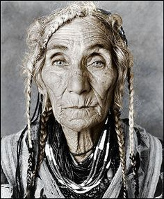~Gypsy Woman~tell me your stories~ old woman, brades, wrinckles, aged, lines of Life, cracks in time, intense eyes, powerful face, expression, beauty, portrait, photo