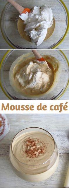 Mousse de café | Food From Portugal. Gosta de café e mousse? Temos a sobremesa ideal para si!!!! Experimente esta receita de mousse de café que toda a família e amigos vão adorar!!! Bom apetite!!! #receita #mousse #café