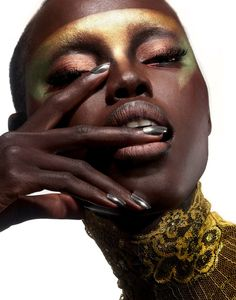 "vmagazine:  Sudanese-American model, Grace Bol. ""Grace moved to New York to pursue modeling after being deemed 'too high fashion' by her Kan..."