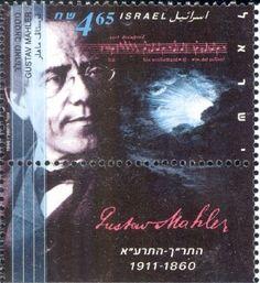 Gustav Mahler auf Briefmarke aus Israel von 1996