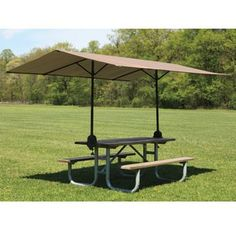The Clamp On Picnic Table Canopy - Hammacher Schlemmer
