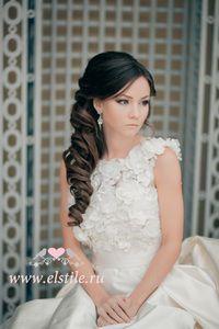 Long hair wedding updo
