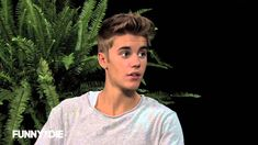 Between Two Ferns with Zach Galifianakis: Justin Bieber --- I love Zach!!  Justin is a lil punk and I dislike him very much haha