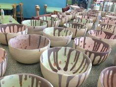 Pottery painting -ice cream bowls!