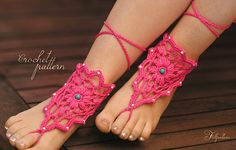 Barefoot Sandals Pattern, Crochet Foot Jewelry, Boho Sandals, Beaded Barefoot Sandals, Nude Shoes, Bridal Anklets,Beach Wedding Sandal. P002