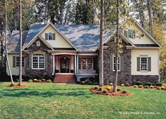 Cottage House Plan with 2097 Square Feet and 4 Bedrooms from Dream Home Source | House Plan Code DHSW41877