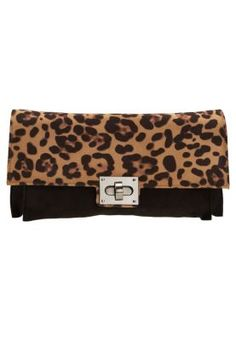 Victoria Delef  Leo prints turn lock clutch