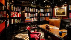 Tommy Hilfiger's office at his Plaza apartment, designed by Cindy Rinfret