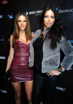 Alessandra Ambrosio & Adriana Lima: Leather & Lace Super Bowl party in NY on February 1, 2014