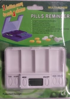 Pillenbox mit Alarmfunktion
