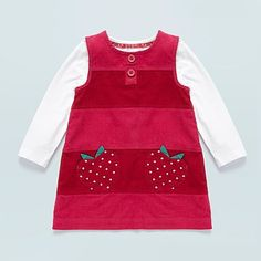 Baby's pink corduroy pinafore and white long sleeved top - Dresses & skirts outfits - Outfits - Kids -