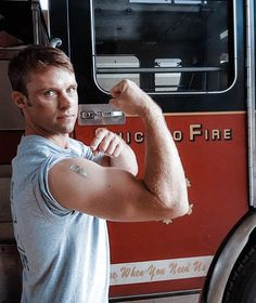 Jesse Spencer, Chicago Fire, Firefighter, Tank Man, World, Mens Tops, Fire Fighters, The World, Firefighters