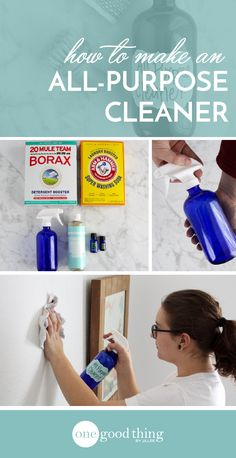 This All-Purpose Cleaner is easy to make and so useful! Use it to clean your bathroom, your kitchen, countertops, tubs, sinks, you name it!