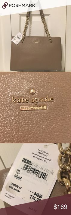 Kate spade Emerson place small phoebe shoulder bag Brand new with tags Kate spade Emerson place smooth small phoebe shoulder bag  In the color spring putty Never used before Comes with dust bag kate spade Bags Shoulder Bags