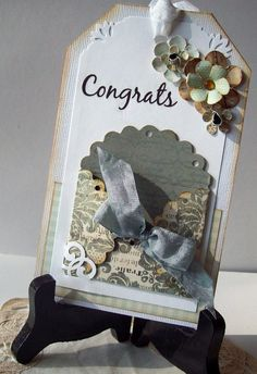 Wedding Shower card tag - gift card holder (harsh lighting!) - Scrapbook.com