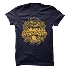(New Tshirt Choose) Just A Kid From Glendale Arizona at Guys Tshirt-Lady Tshirt Hoodies, Funny Tee Shirts
