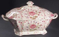 "Johnson Brothers Rose Chintz-Pink (""Made in England"" Stamp) at Replacements, Ltd"