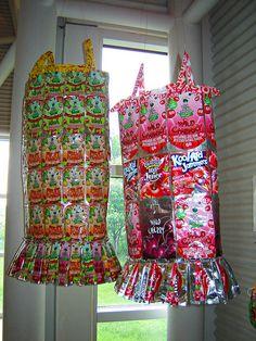 juice packet dresses Trashion 2011 Exhibition by Urban Woodswalker  Repurposed Fashion | Trashion | Refashion | Upcycled Fashion