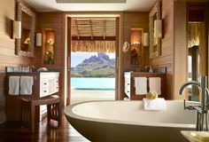 Four Seasons Bora Bora Resort - Luxury Overwater Bungalows | Exclusive Offers and Honeymoons Packages | Map, Photos and Best Rates | Book Today.