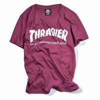 Thrasher Skateboard Magazine Burgundy T-Shirt
