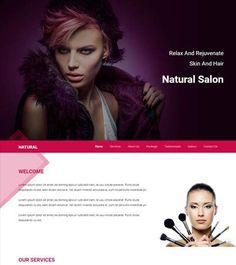 Free html5 salon template