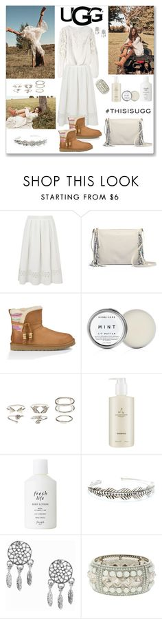 """Play With Prints In UGG: Contest Entry"" by ludmyla-stoyan ❤ liked on Polyvore featuring Miss Selfridge, UGG Australia, Charlotte Russe, Aromatherapy Associates, Fresh, Child Of Wild, NLY Accessories, Alice + Olivia and thisisugg"