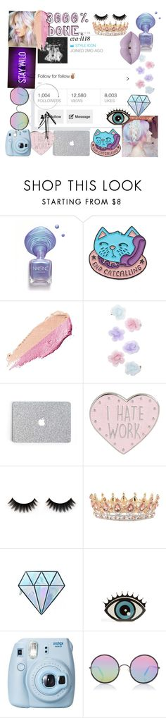 """""""1000 followers//description"""" by eva-l118 ❤ liked on Polyvore featuring By Terry, Monsoon, Unicorn Lashes, Charlotte Olympia, Fujifilm, Sunday Somewhere, Lime Crime and taglist"""