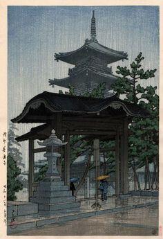 讃州善通寺 川瀬巴水 Hasui Kawase 1937