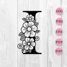 Flower Svg, Star Flower, Floral Letters, Monogram Letters, Cool Lettering, Lettering Design, Letter Art Design, Flower Alphabet, Doodle Art Journals