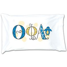 Theta Phi Alpha Sorority Dot Pillowcase #ThetaPhiAlpha #TPA #Greek #Sorority #Accessory #Accessories #Pillowcase