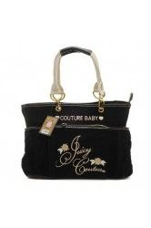 Juicy Couture Diaper Signture Flowers Terry Black Handbags