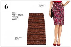The Patterned Pencil Skirt