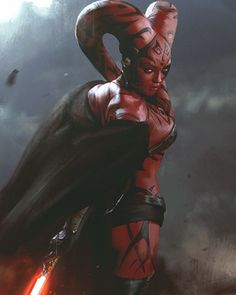 """Artist Darek Zabrocki created this cool piece of Star Wars character art that he calls """"Sith Girl."""" But it looks a lot like Darth Talon. This is a cool character design that looks completely menacing. These days, when I come across fan-made Star Wars characters like this I wonder what J.J. Abrams and his creative team have created for Star Wars: Episode VII. We're going to see a ton of new characters introduced into the Star Wars universe, and not just with Episode VII, but with all ..."""