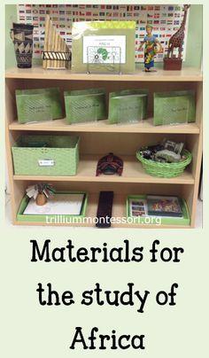 Africa Continent Studies- Geography Shelf- Trillium Montessori