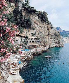 Amalfi, Italy | Hotel Santa Caterina- private beach and club