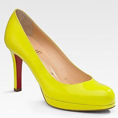2011 Christian Louboutin New Simple Pump Yellow #shoes--oh, Christian!!!  You never let me down : )