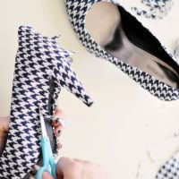 DIY Shoe Refashion with Beautiful Fabrics