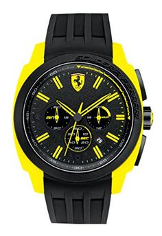 Ferrari 0830117 Yellow Bezel Black Chronograph Men's Watch Ferrari http://www.amazon.com/dp/B00LCPPF0M/ref=cm_sw_r_pi_dp_fno5tb0MMMMMY