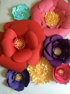 40 origami flowers you can do pinterest construction paper paper flower wall bold and bright paper flowers make a big statement for any occasion special orders are welcome mightylinksfo