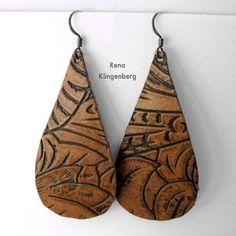 Leather Earrings - Tutorial by Rena Klingenberg