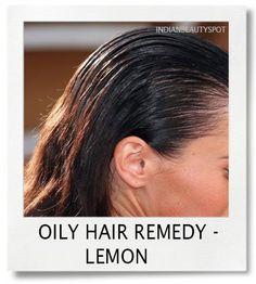 oily hair remedy - lemon