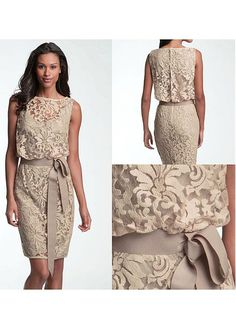 2018 Vintage Mother of the Bride Dresses Jewel Neck Illusion Full Lace Champagne With Sashes Short Plus Size Party Dress Wedding Guest Gowns sold by MissZhu Bridal on Storenvy Wedding Guest Gowns, 2015 Wedding Dresses, Bridesmaid Dresses, Dress Wedding Guests, Wedding Venues, Table Wedding, Dresses 2016, Wedding Ideas, Dresses Uk