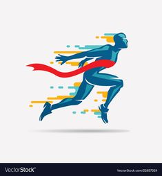 Running man vector symbol, sport and competition concept background. Running Man, Running Shoes For Men, Running Pose, Running Humor, Running Motivation, Running Shorts, Motivation Quotes, Sports Day, Kids Sports