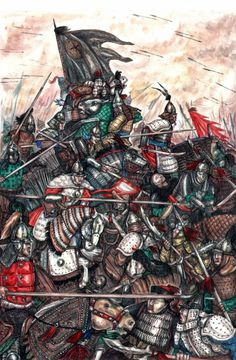 Melee combat between Mongols and the Manchus, Northern China