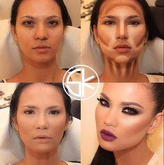 get free makeup samples today Power Of Makeup, Love Makeup, Makeup Tips, Beauty Makeup, Nose Contouring, Contour Makeup, Contouring And Highlighting, Contouring Tutorial, Contour Kit