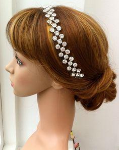 Rhinestone chain headband with ribbon ties by HouseOfGlitter2, $45.00