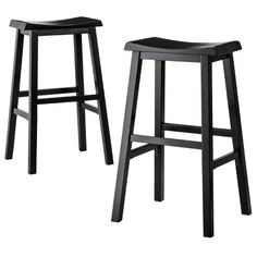Threshold™ Trenton Saddle Bar Stool - Set of 2 in Espresso for $89.99 - Leave them as is or cover with foam and fabric