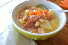 A tasty hot soup is perfect on a cold winter's day! I make a lot of homemade soup in the wintertime. It warms me up and is comforting even if it is a broth based soup such as this one. Be sure to c…